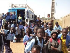 Gandaye- Arrivée à l'école